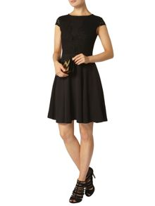 Scallop Fit And Flare Dress