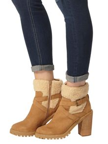 Dorothy Perkins Maple Fur Ankle Boots