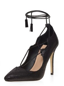 Dorothy Perkins Lace Up Snake Look Courts