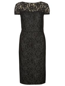 Dorothy Perkins Foil Lace Pencil Dress
