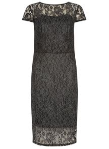 Dorothy Perkins Tall Foil Lace Dress