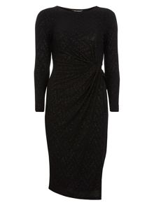 Luxe Glitter Ruched Dress