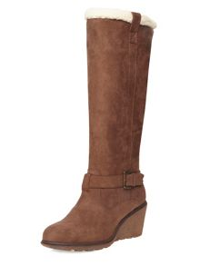 Dorothy Perkins Tinks Leather Look Knee High Boots