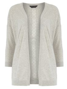 Dorothy Perkins Lace Back Edge To Edge Cardigan