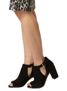Dorothy Perkins Brandy Suedette Wedge Boot Crepe Sole Mid Wedge S