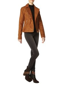 Dorothy Perkins Tall Faux Suede Biker Jacket