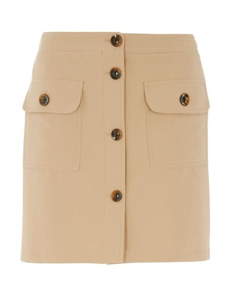 Dorothy Perkins Button Skirt