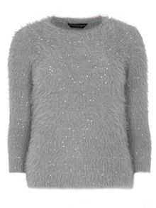 Feather Sequin Jumper