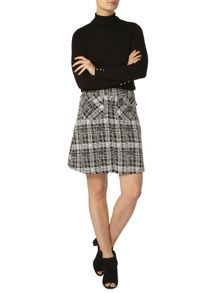 Dorothy Perkins Check Textured A Line Skirt