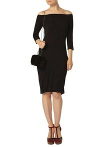 Long sleeve Bodycon Bardot Dress