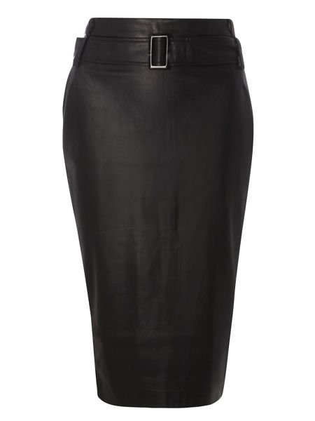 Dorothy Perkins Leather Look Pencil Skirt