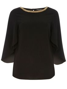 Chain Split Sleeve Top