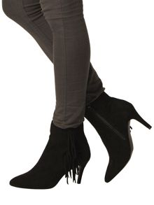 Max Fringe Ankle Boots