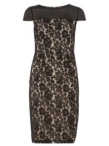 Dorothy Perkins Tall Yoke Pencil Dress