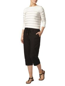 Dorothy Perkins Black Cotton Poplin Crop Trousers