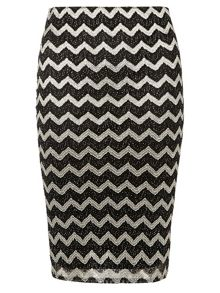 Petite Zigzag Pencil Shimmer Skirt