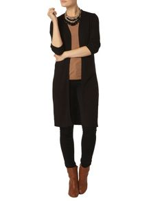 Dorothy Perkins Long Line Rib Cardigan