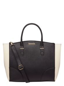 Two Tone Oversized Tote Bag