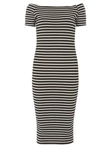 Short sleeve Bodycon Bardot Dress