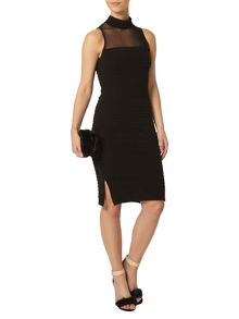 Petite Mesh Bodycon Dress