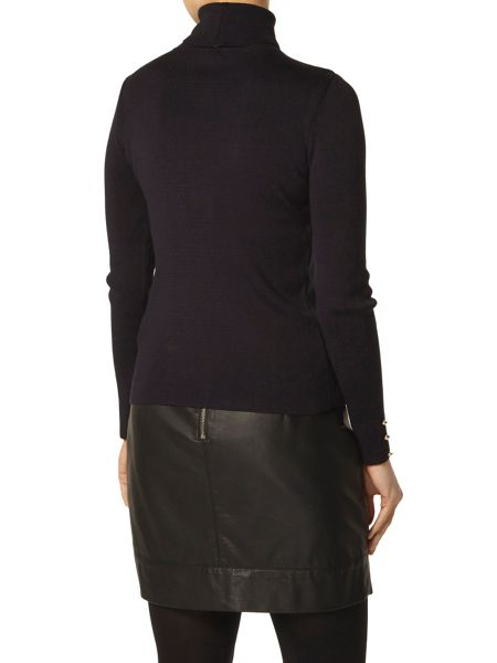 Dorothy Perkins Button Cuff Roll Neck Jumper
