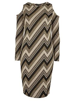 Zig Zag Print Bodycon Dress