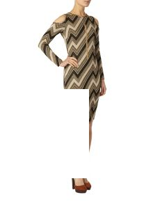 Dorothy Perkins Zig Zag Print Bodycon Dress