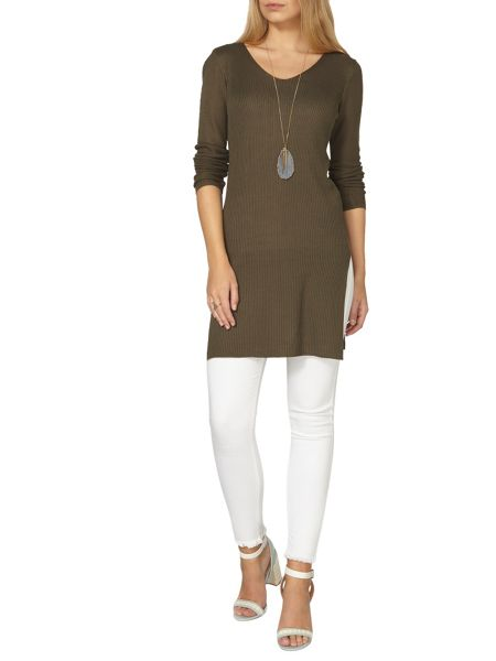 Dorothy Perkins V Neck Rib Tunic