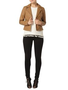 Dorothy Perkins Faux Leather Biker Jacket