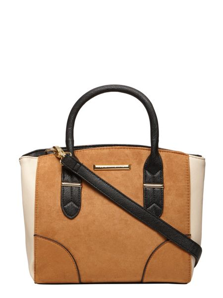 Dorothy Perkins Faux Suede Mini Panel Tote Bag