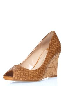 Dorothy Perkins Wide Fit Peep Toe Wedges