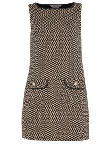 Dorothy Perkins Petite Jacquard Pinny Dress