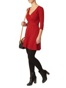 Petite D Ring Wrap Dress