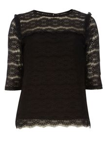 Dorothy Perkins Ruffle Lace Top