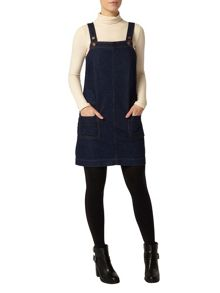 Petite Denim Pinafore Dress