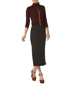 Dorothy Perkins Split Pocket Column Skirt