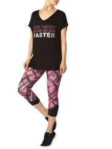 Dorothy Perkins Dp Active: Black Slogan T-Shirt