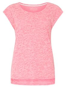 Dorothy Perkins Dp Active: Pink Burnout Slouchy T-Shirt