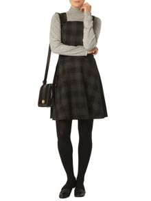 Dorothy Perkins Check Pinny Fit And Flare Dress