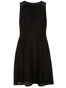 Dorothy Perkins Stripe Mesh Fit and Flare Dress