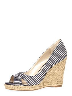 Callie` Peeptoe Wedges