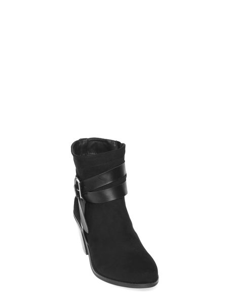 Dorothy Perkins Suedette Heeled Buckle Boots