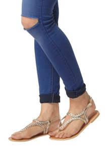 Dorothy Perkins Leather `Shelby` Sandals