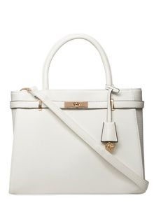 Dorothy Perkins White Belted Tote Bag
