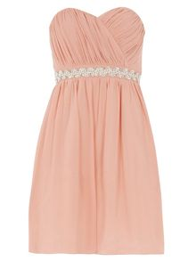 Dorothy Perkins Showcase Embellished Bandeau Prom Dress