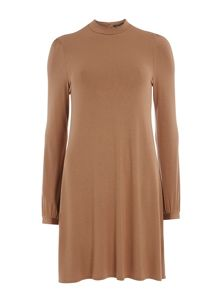 Dorothy Perkins Spot High Neck Swing Dress