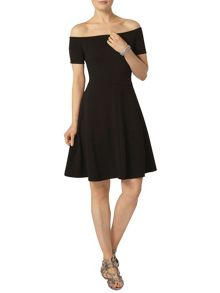Dorothy Perkins Black Bardot Dress