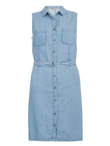 Dorothy Perkins Sleeveless Denim Shirt Dress