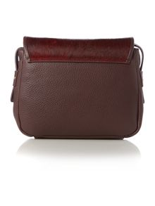 Stirrup burgundy haircalf cross body bag