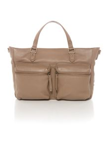 Village England Eton taupe pocket tote bag